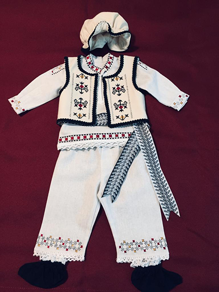 traditional Romanian baby boy costume