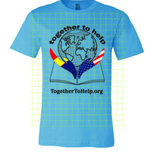 Together To Help t-shirt blue